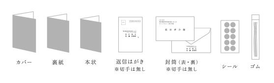 招待状 カバー 裏紙_席次表6月発売予定