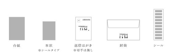 招待状 台紙カード